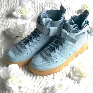 """Nike SF Air Force 1 Mid """"Ocean Bliss"""" size 7 Wmns"""